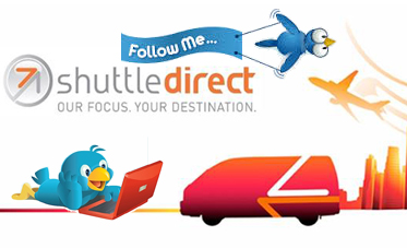 shuttle services; airport shuttle; follow us